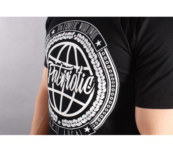 T-SHIRT PATRIOTIC WORLDWIDE BLACK