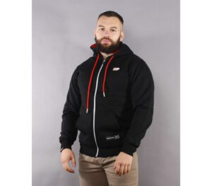 BLUZA PATRIOTIC KAPTUR ZIP P FLAG BLACK