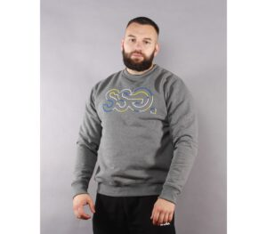 BLUZA SSG KLASYK OUTLINE COLORS GREY