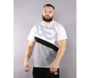 T-SHIRT SSG DOTS TRIPLE WHITE/GREY