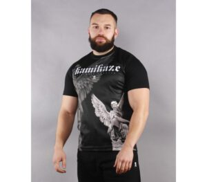 T-SHIRT KAMIKAZE ANGEL BLACK