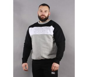 BLUZA SSG KLASYK TRIPLE OUTLINE BLACK/WHITE/GREY
