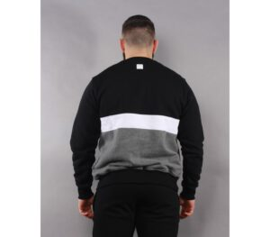BLUZA SSG KLASYK TRIPLE LINE BLACK/GREY