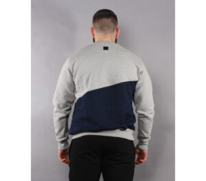 BLUZA SSG KLASYK CUT FRONT BACK LIGHT GREY/NAVY