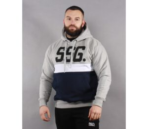 BLUZA SSG KAPTUR TRIPLE LINE LIGHT GREY/NAVY