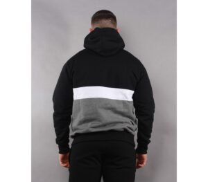 BLUZA SSG KAPTUR TRIPLE LINE BLACK/DARK GREY
