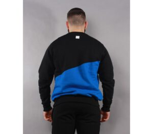 BLUZA SSG KLASYK CUT FRONT BACK BLACK/CORNFLOWER