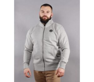 BLUZA PITBULL KLASYK FULL ZIP SMALL LOGO GREY/MELANGE