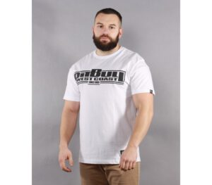 T-SHIRT PITBULL CLASSIC BOXING WHITE