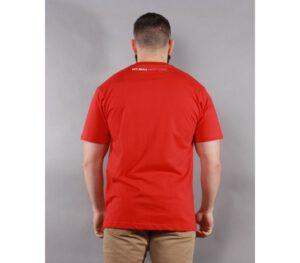T-SHIRT PITBULL PINEAPPLE LOGO RED