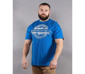 T-SHIRT PITBULL BANNER ROYAL BLUE