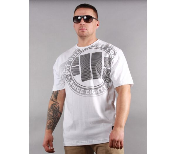 T-SHIRT PITBULL RASTER LOGO WHITE