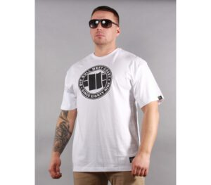 T-SHIRT PITBULL CHEST LOGO WHITE
