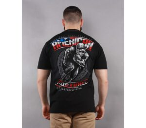 T-SHIRT PITBULL AMERICAN FOOTBALL BLACK