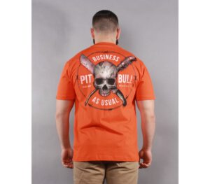 T-SHIRT PITBULL BUSINESS ORANGE
