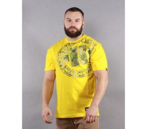T-SHIRT PITBULL PINEAPPLE LOGO YELLOW