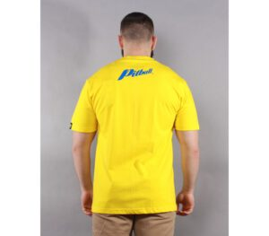 T-SHIRT PITBULL BLUE BRAND YELLOW