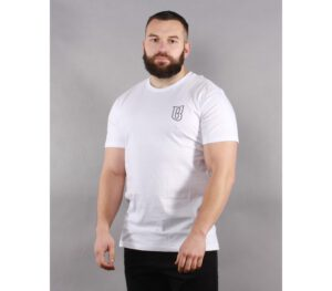 T-SHIRT BOR BORCREW OUTLINE WHITE