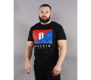 T-SHIRT BOR FLAGA BLACK