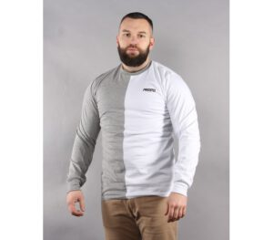 LONGSLEEVE PROSTO ONE HALF WHITE GREY