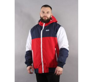 KURTKA SSG ZIP COLOR NAVY BLUE/RED
