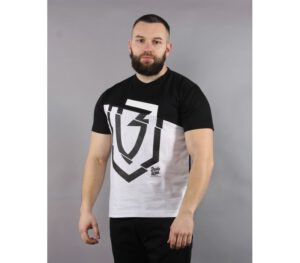 T-SHIRT BANITA WEAR HALF LOGO BLACK