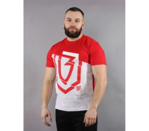 T-SHIRT BANITA WEAR HALF LOGO RED