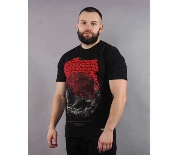 T-SHIRT PATRIOTIC MAP BLACK
