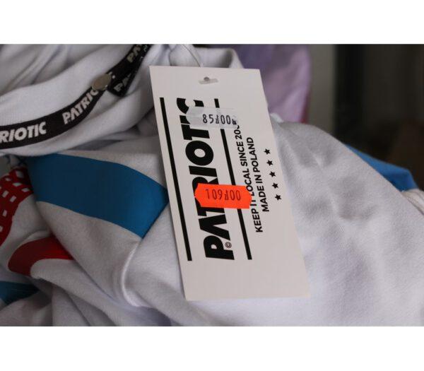 T-SHIRT PATRIOTIC CAGE LOGO WHITE