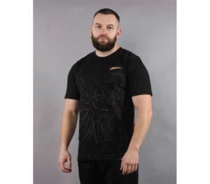 T-SHIRT PATRIOTIC EAGLE SHADOW BLACK