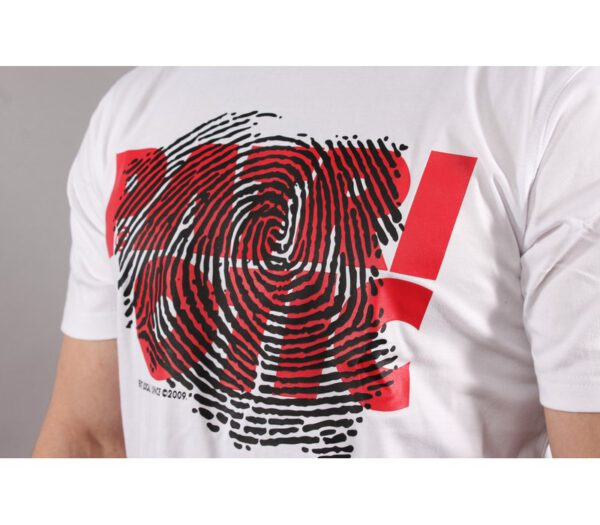 T-SHIRT PATRIOTIC FINGERPRINT WHITE