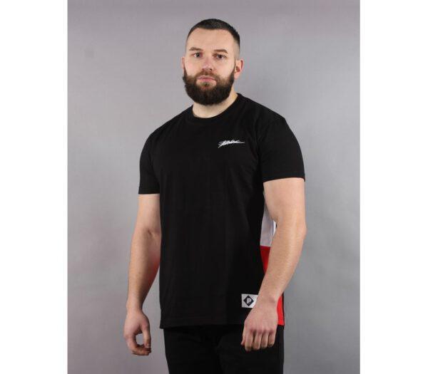 T-SHIRT PATRIOTIC TAG SLICES BLACK