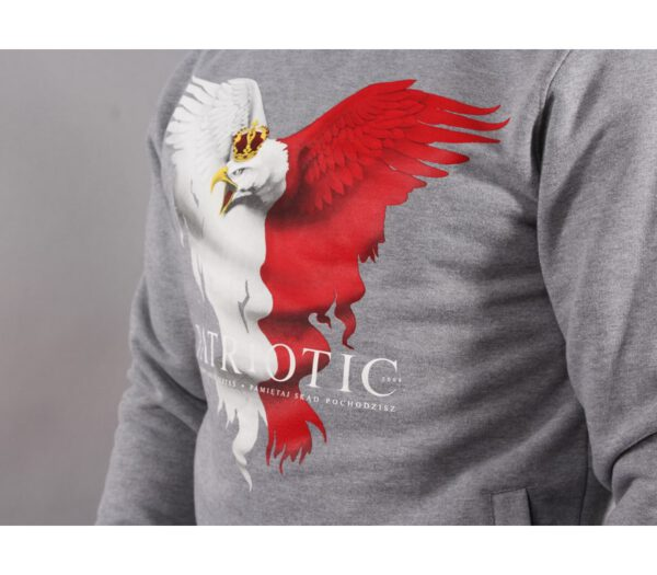 BLUZA PATRIOTIC KLASYK EAGLE GREY
