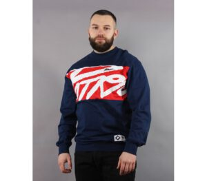 LONGSLEEVE PATRIOTIC KLASYK TAG DARK BLUE RED