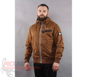 KURTKA PITBULL JACKET GROTON MUD BROWN