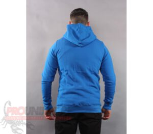 BLUZA STOPROCENT KAPTUR ZIP BASE TAG BLUE