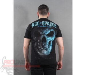 T-SHIRT PITBULL BLUE SKULL BLACK