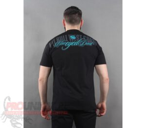 T-SHIRT PITBULL CLASSIC BED BLACK