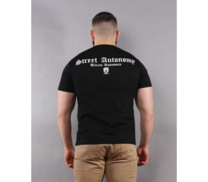 T-SHIRT STREET AUTONOMY GATE BLACK