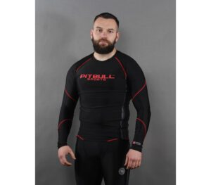 RASGUARD PITBULL COMPRESSION LONG BLACK