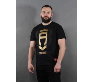T-SHIRT STREET AUTONOMY GOLD BLACK