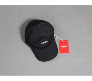 CZAPKA PROSTO 8 PANEL LOGO BLACK