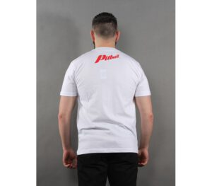 T-SHIRT PITBULL RED BRAND WHITE