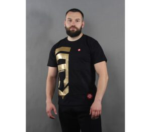 T-SHIRT STREET AUTONOMY BIG GOLD BLACK