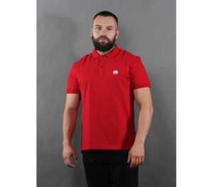 POLO PITBULL CIRCLE LOGO RED