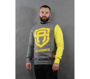 BLUZA STREET AUTONOMY KLASYK COLOR ARM GREY/YELLOW