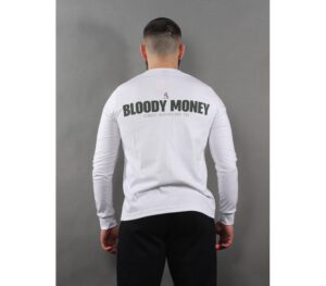 LONGSLEEVE STREET AUTONOMY BLOODY MONEY WHITE