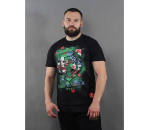 T-SHIRT STREET AUTONOMY POKER FACE BLACK
