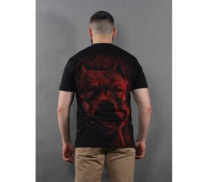 T-SHIRT PITBULL RED NOSE BLA…