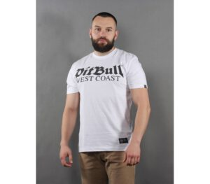 T-SHIRT PITBULL OLD LOGO WHI…